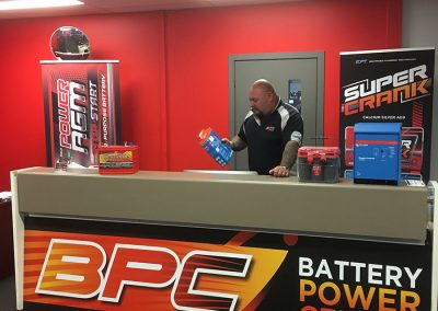 Battery Power Centre front counter