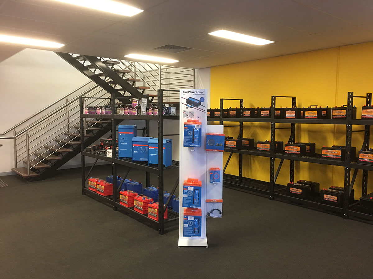 The spacious Battery Power Centre showroom in Dandenong