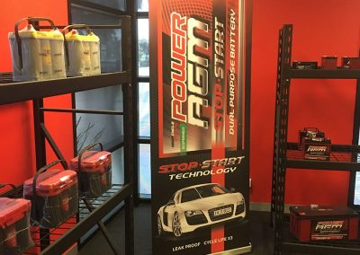 Battery Power Centre showroom display